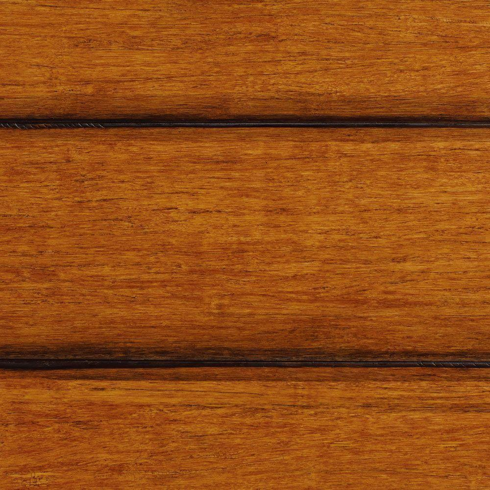 null Take Home Sample - Strand Woven French Bleed Click Lock Engineered Bamboo Flooring - 5 in. x 7 in.