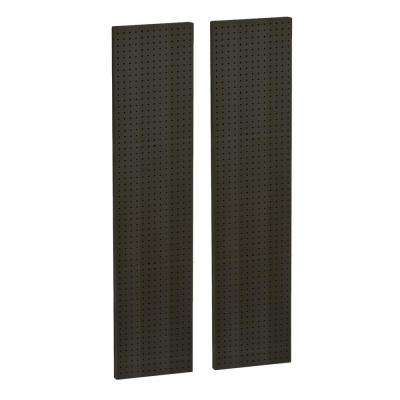 60 in. H x 13.5 in. W Pegboard Black Styrene One Sided Panel (2-Pieces per Box)