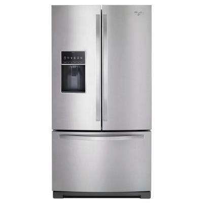 36 in. W 27 cu. ft. French Door Refrigerator in Monochromatic Stainless Steel
