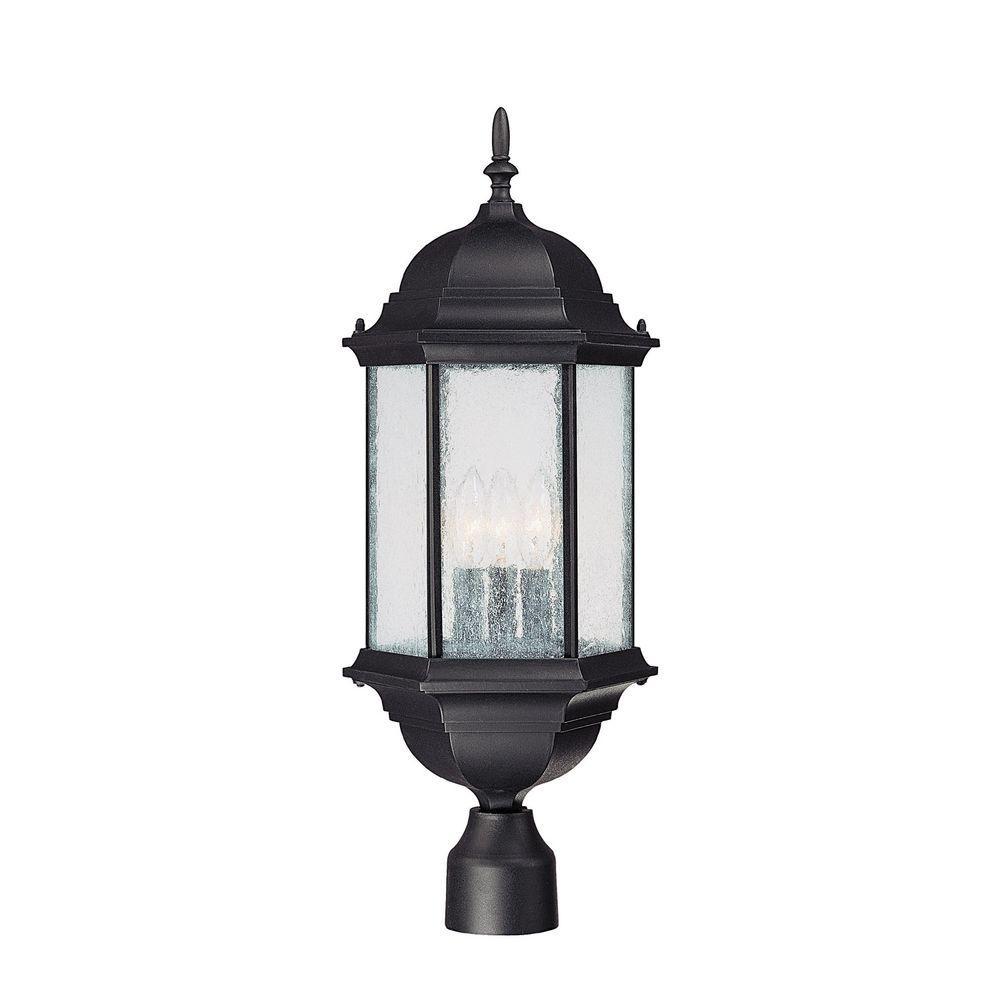 Johnson 3-Light Old Bronze Incandescent Outdoor Post Head Light