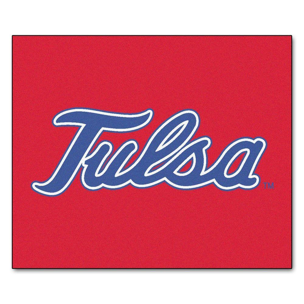 NCAA University of Tulsa Red 5 ft. x 6 ft. Area Rug