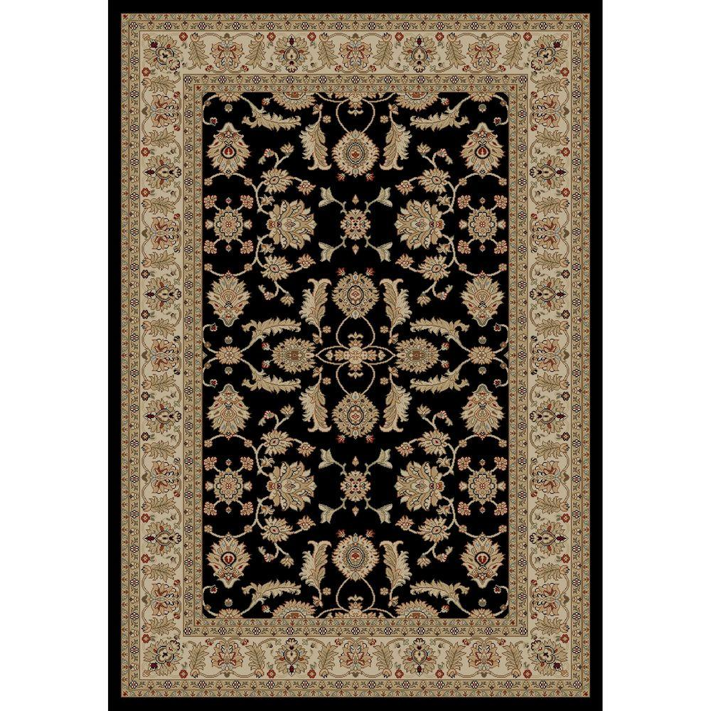 Concord Global Trading Concord Global Trading Jewel Antep Black 5 ft. x 8 ft. Area Rug