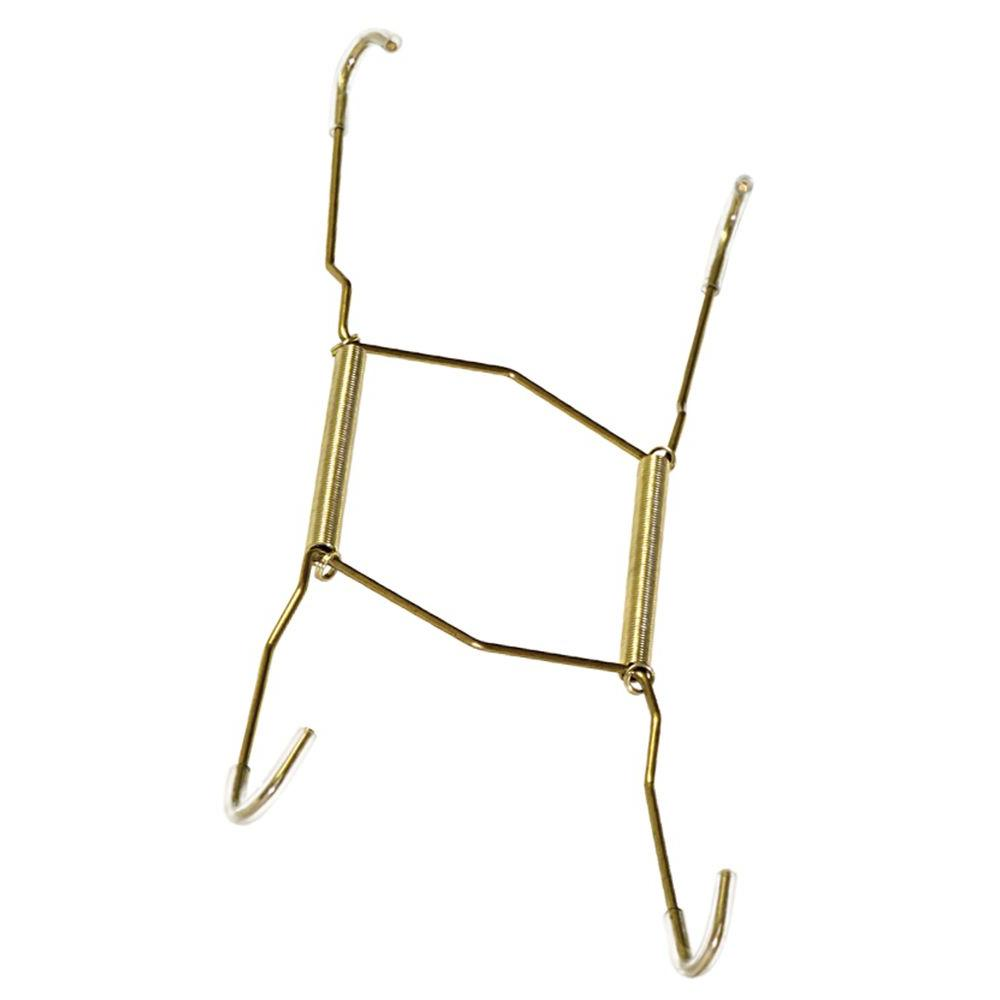7 - 10 in. 30 lb. Brass and Gold Deluxe Plate Hanger  sc 1 st  The Home Depot & Plate Hanger - The Home Depot