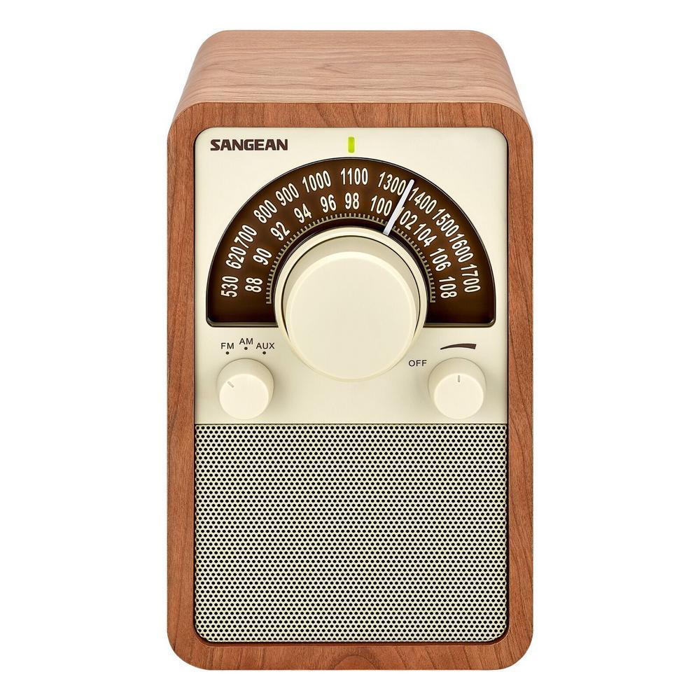 AM/FM Analog Wooden Cabinet Radio