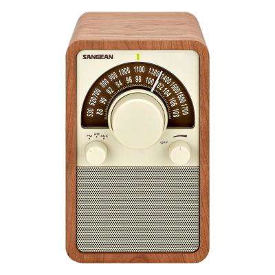 AM/FM Analog Wooden Cabinet Radio