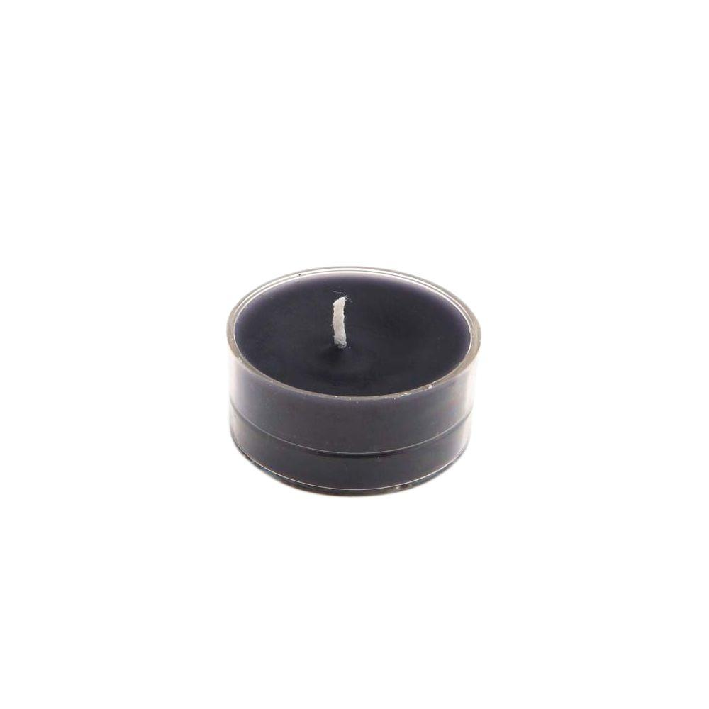 Zest Candle 1.5 in. Black Tealight Candles (50-Pack)