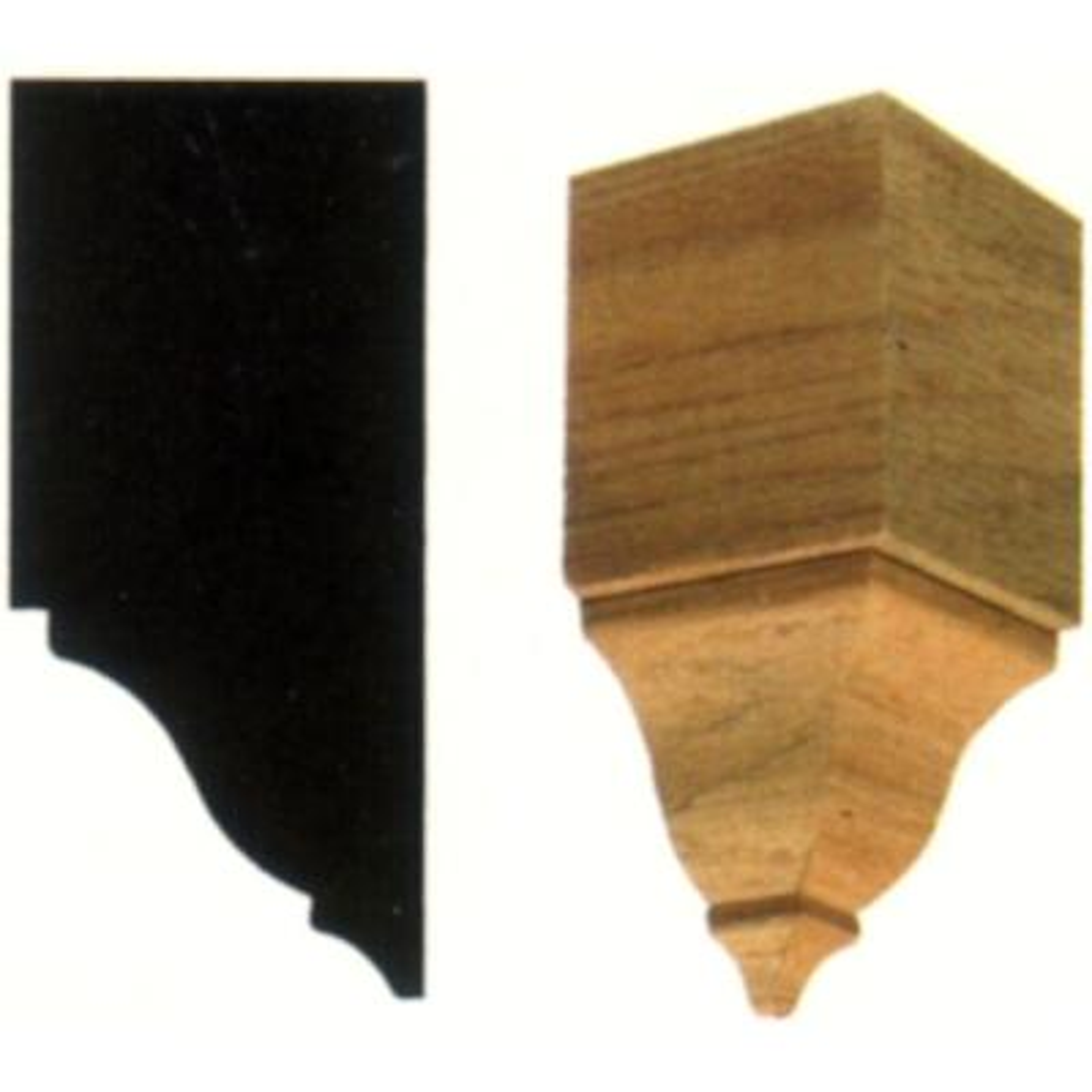 2 in. x 2 in. x 4-3/8 in. Hardwood Inside Crown Corner Block Moulding
