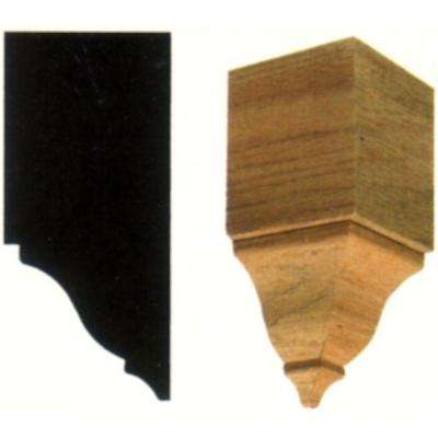 2 in. x 2 in. x 4-3/8 in. Hardwood Inside Crown Corner Block Moulding