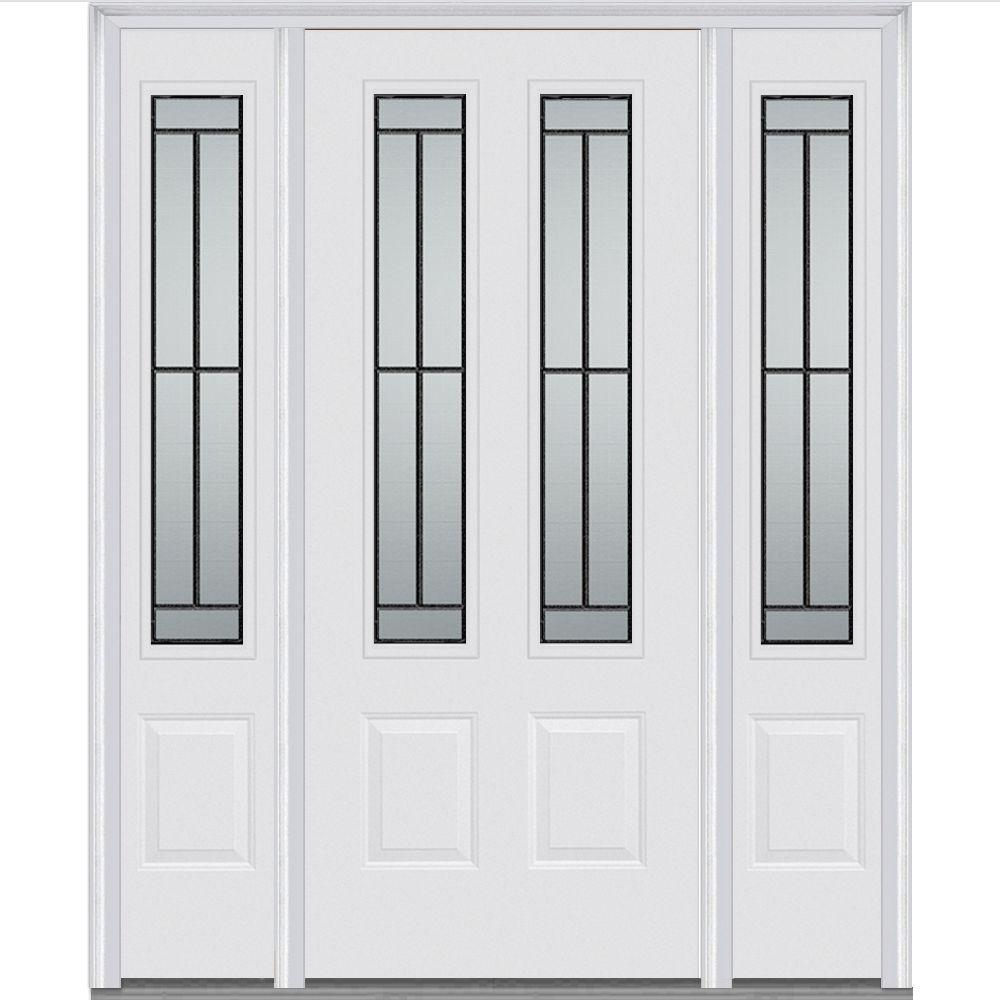 mmi door 64 in x 80 in madison left hand 2 3 4 lite 2 panel classic primed fiberglass smooth. Black Bedroom Furniture Sets. Home Design Ideas