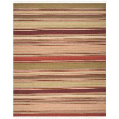Red Striped 10 X 14 Area Rugs Rugs The Home Depot