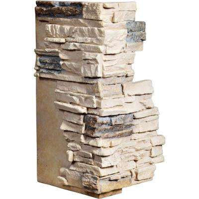1-1/2 in. x 13-3/4 in. x 25 in. Sonora Desert Urethane Stacked Stone Outer Corner Wall Panel