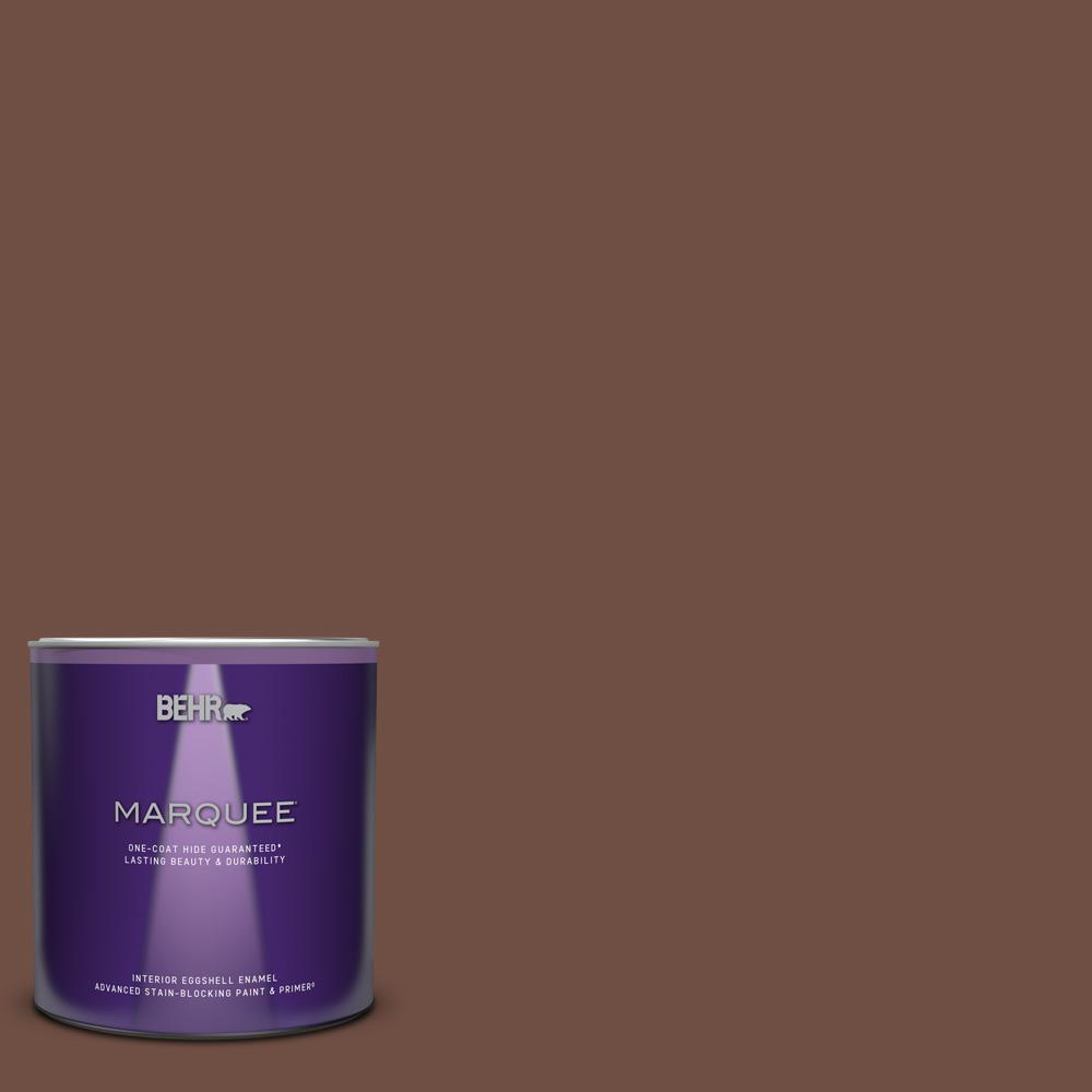 Behr Marquee 1 Qt S G 750 Chocolate Sprinkle Eggshell Enamel Interior Paint And Primer In One 245304 The Home Depot