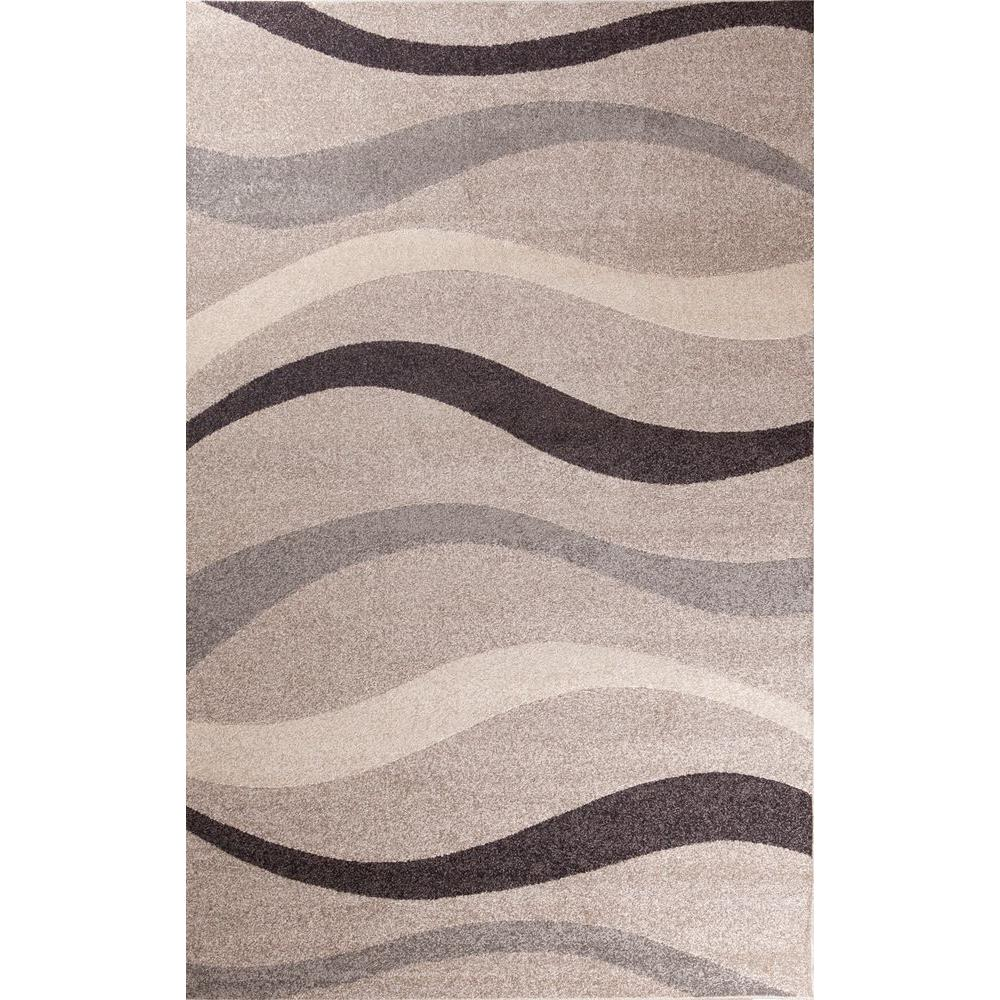 Concord Global Trading Casa Collection Contour Beige 3 ft. 3 in. x 4 ft. 7 in. Area Rug