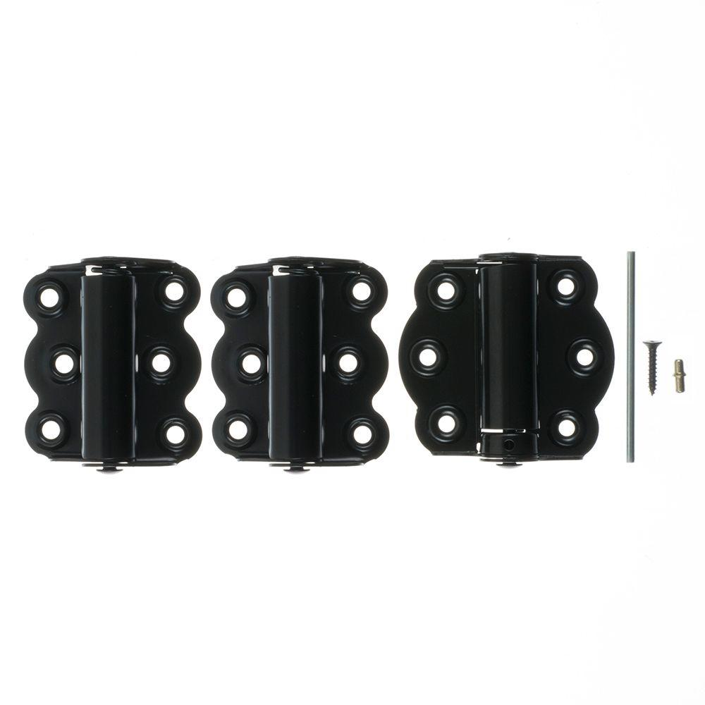 Wright Products 2-3/4 in. Black Self-Closing Adjustable Hinge