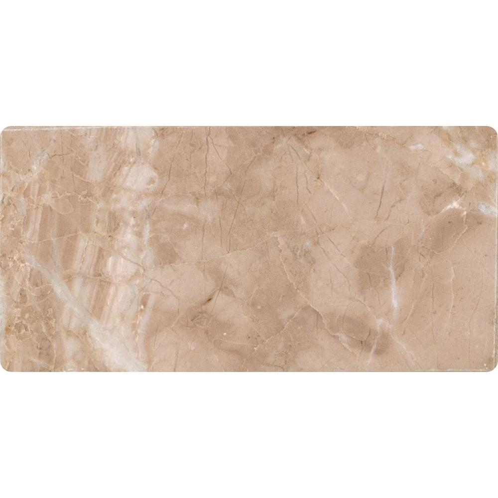 MSI Crema Cappuccino 3 in. x 6 in. Polished Marble Floor and Wall Tile (1 sq. ft. / case)