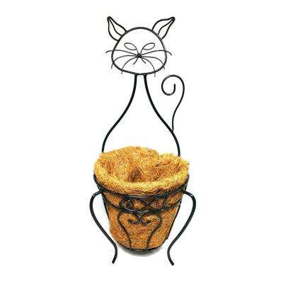 Garden Companions Cat Planter with Coco Liner