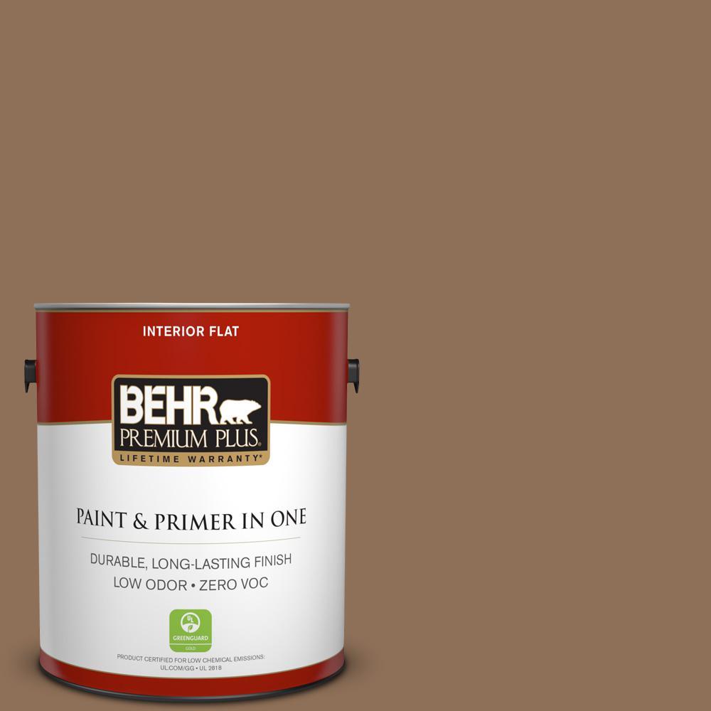 BEHR Premium Plus 1-gal. #250F-6 Pepper Spice Zero VOC Flat Interior Paint