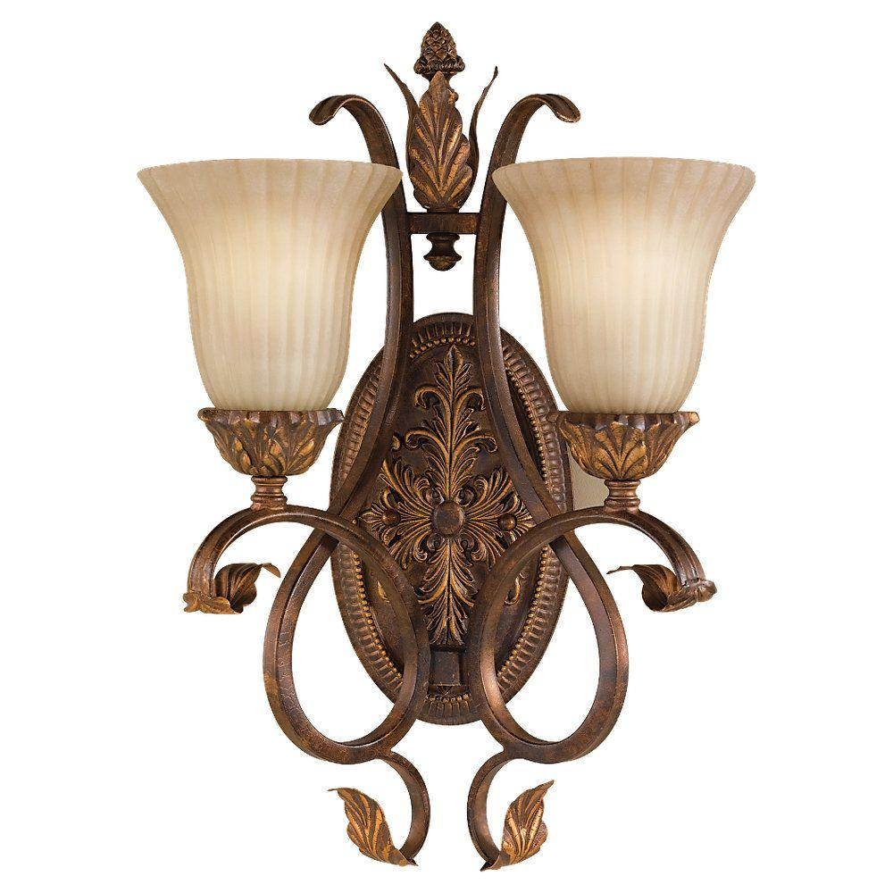 Sonoma Valley 2-Light Aged Tortoise Shell Wall Sconce