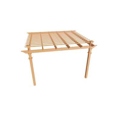 Kennedy 12 ft. x 12 ft. Cedar Composite Attached Pergola