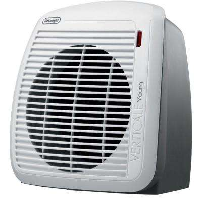 1500-Watt Radiant Portable Fan Heater - Gray/White