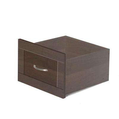 16 in. x 10 in. Mocha Storage Wood Drawer