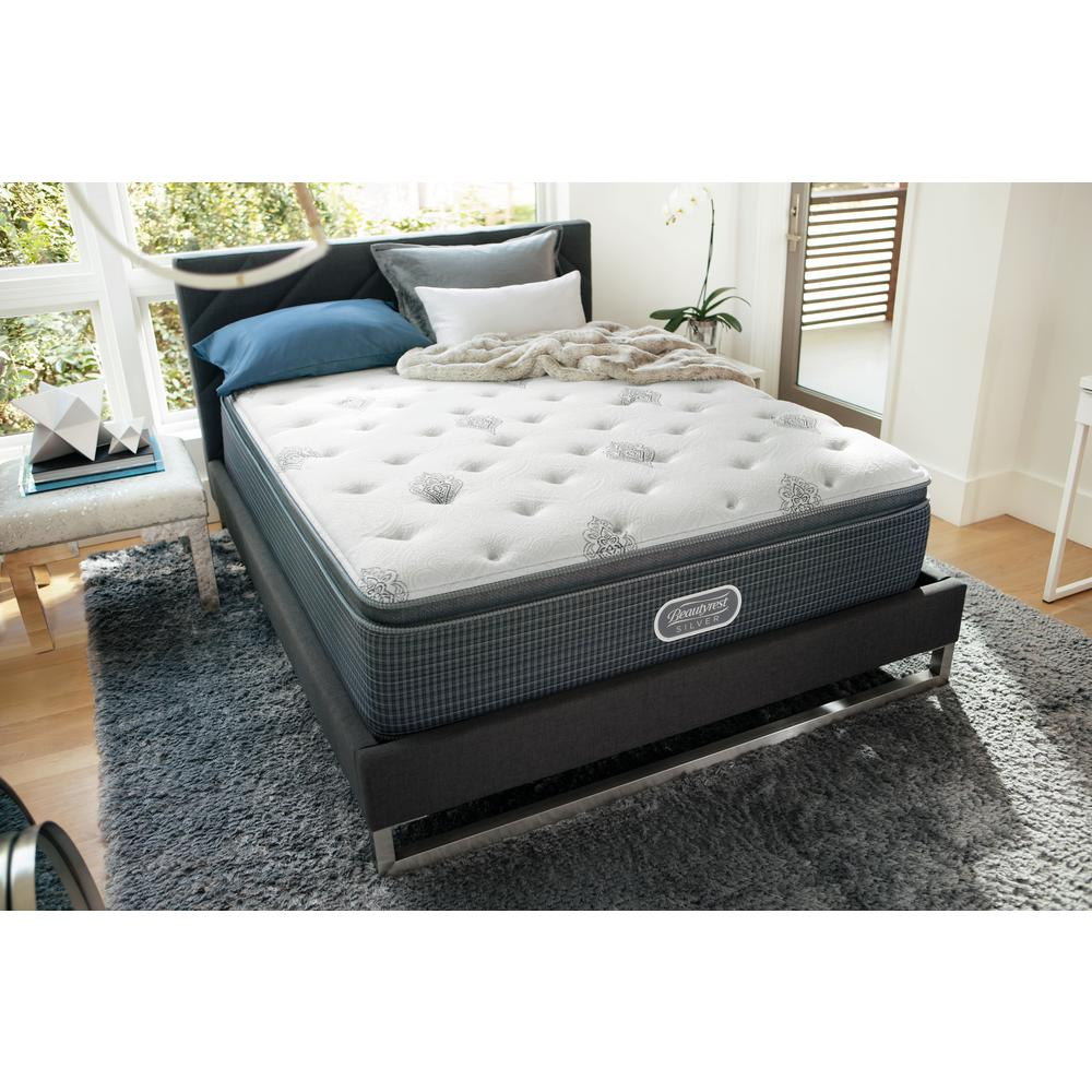 Beautyrest Silver View Full Plush Pillow Top Low Profile Mattress Set