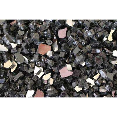 10 lbs. Bag Reflective Fire Pit Fire Glass in Black