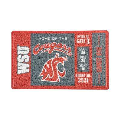 Washington State University 30 in. x 18 in. Vinyl Indoor/Outdoor Turf Floor Mat