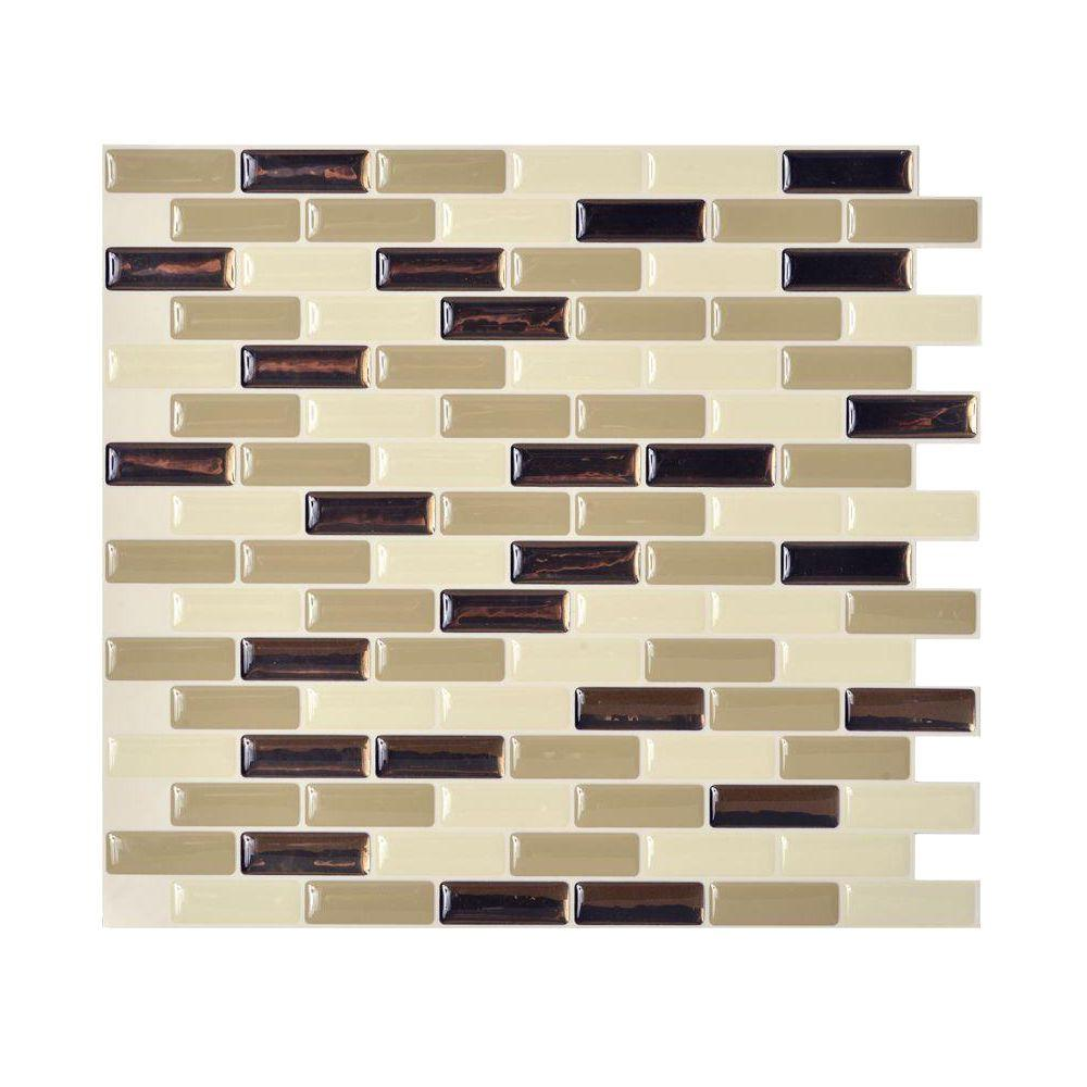 - Smart Tiles 9.10 In. X 10.20 In. Mosaic Peel And Stick Decorative