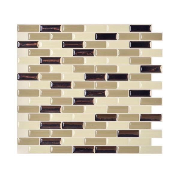 Smart Tiles 9.10 in. x 10.20 in. Mosaic Peel and Stick