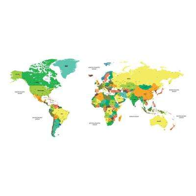 110.2 in. x 39.4 in. Colored Map Wall Decal