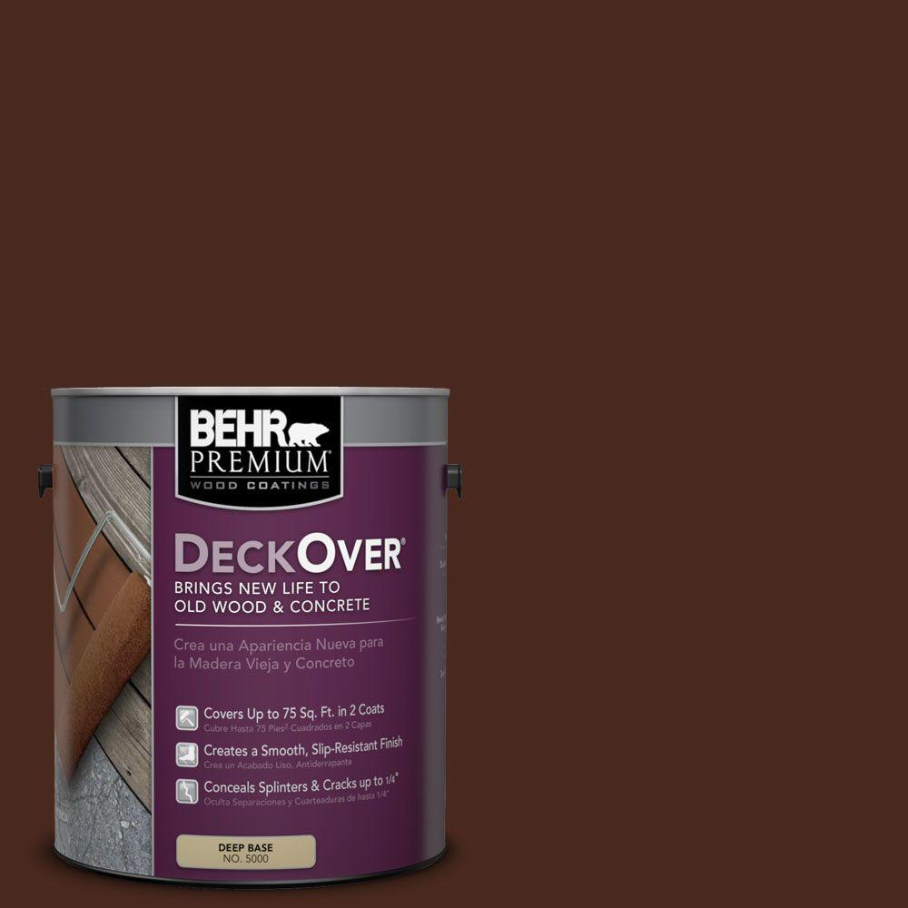 BEHR Premium DeckOver 1 Gal. #SC 117 Russet Solid Color Exterior Wood And
