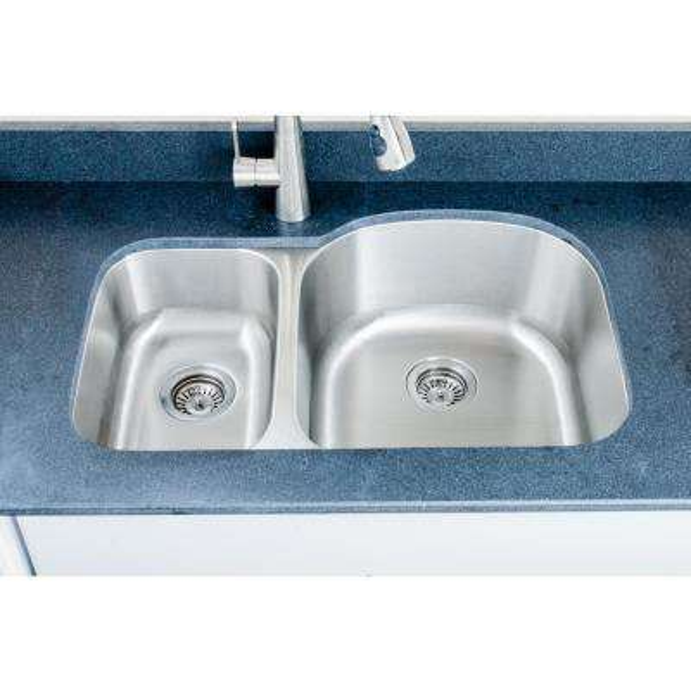 The Craftsmen Series Undermount Stainless Steel 31 in. 30/70 Double Bowl Kitchen Sink