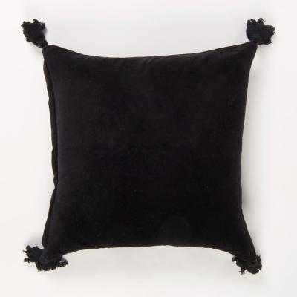 American Colors Black Geometric Down 20 in. x 20 in. Throw Pillow