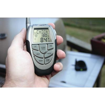 Remote Digital Meat Temperature Gauge with Stainless Steel Probe