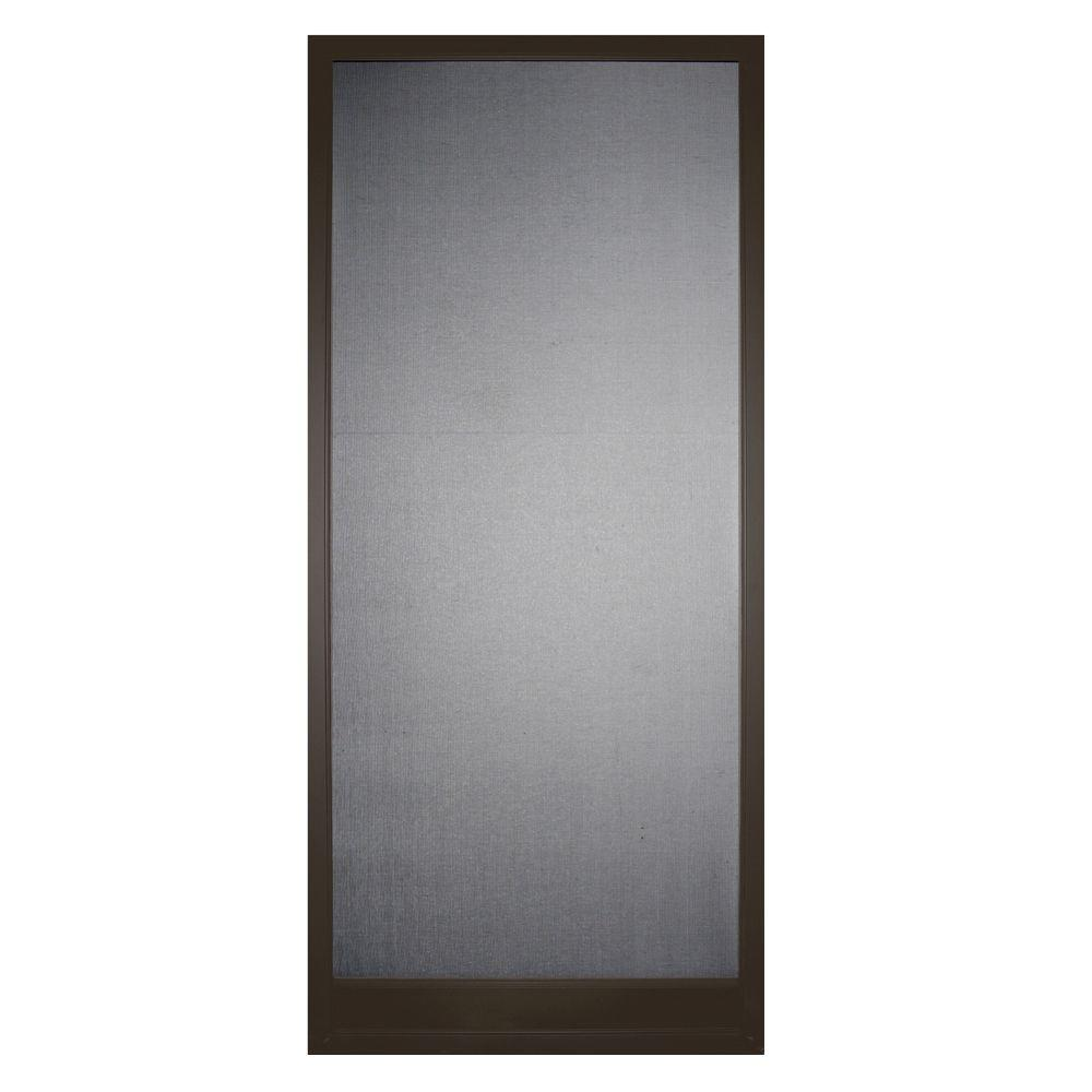 36 in. x 80 in. Steel Bronze Bay Breeze Screen Door