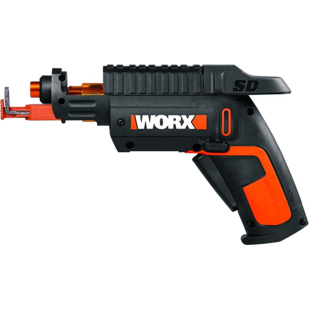 Worx 4-Volt Lithium-Ion 1/4 in. Cordless Driver-WX255L ...