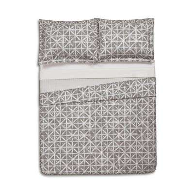 Celine Gray Twin Extra Long Quilt Set