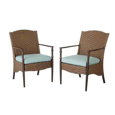 Bolingbrook Stationary Wicker Outdoor Patio Dining Chairs (2-Pack)