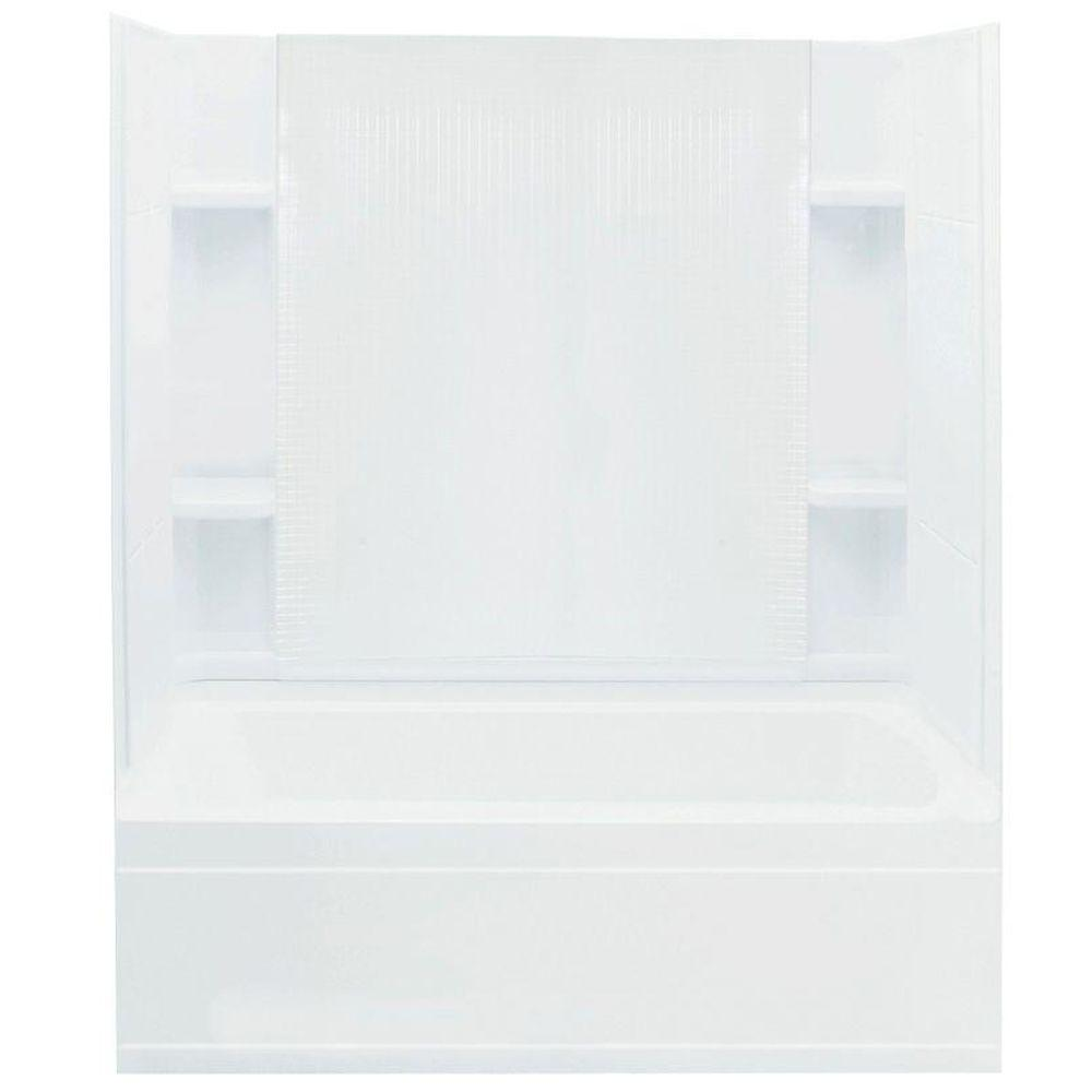 STERLING Accord 36 In. X 60 In. X 76 In. Bath And Shower Kit With  Right Hand Drain In White 71160120 0   The Home Depot
