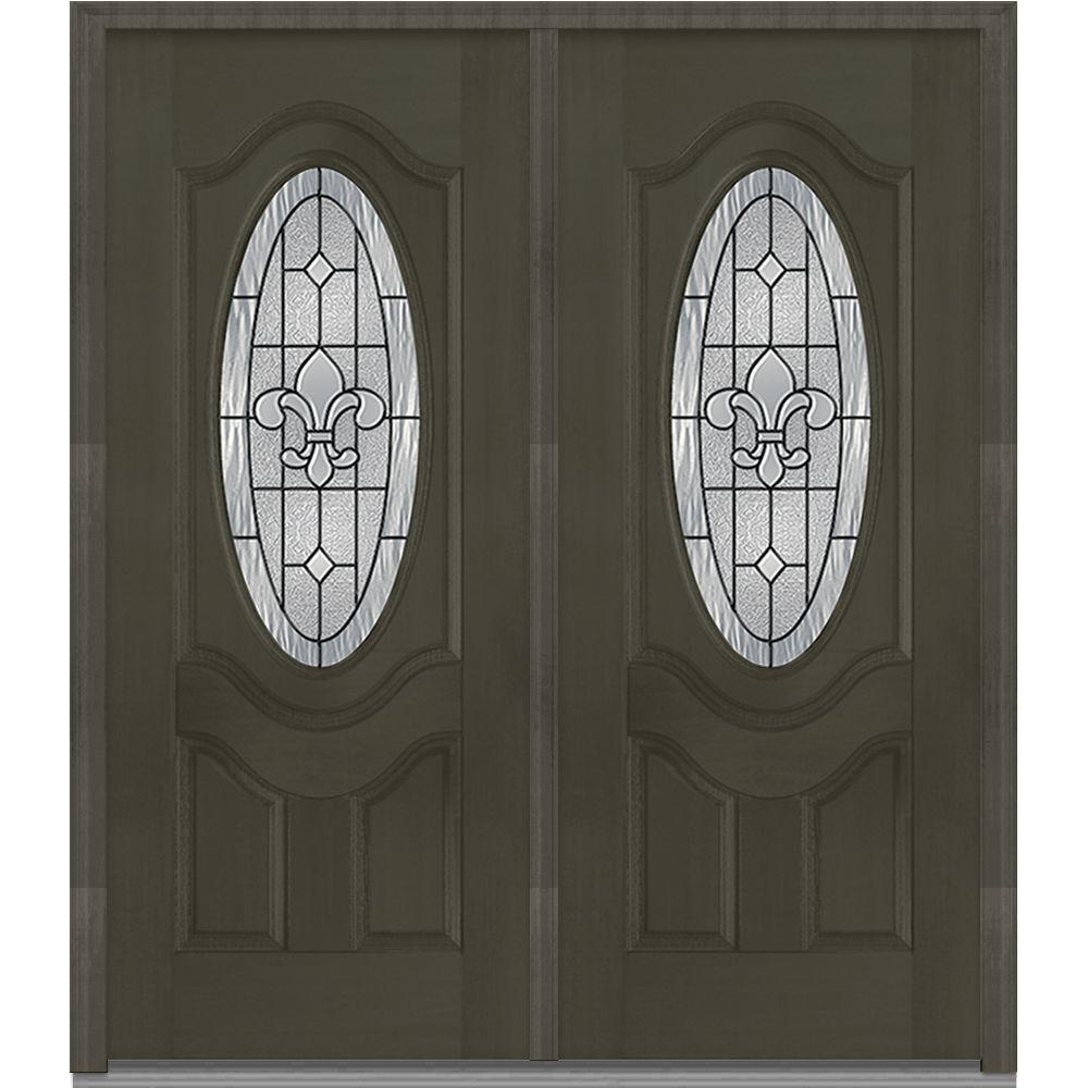 2 Panel Double Door Black Front Doors Exterior Doors The