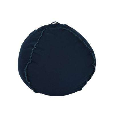 Peacock Blue Canvas Bean Bag