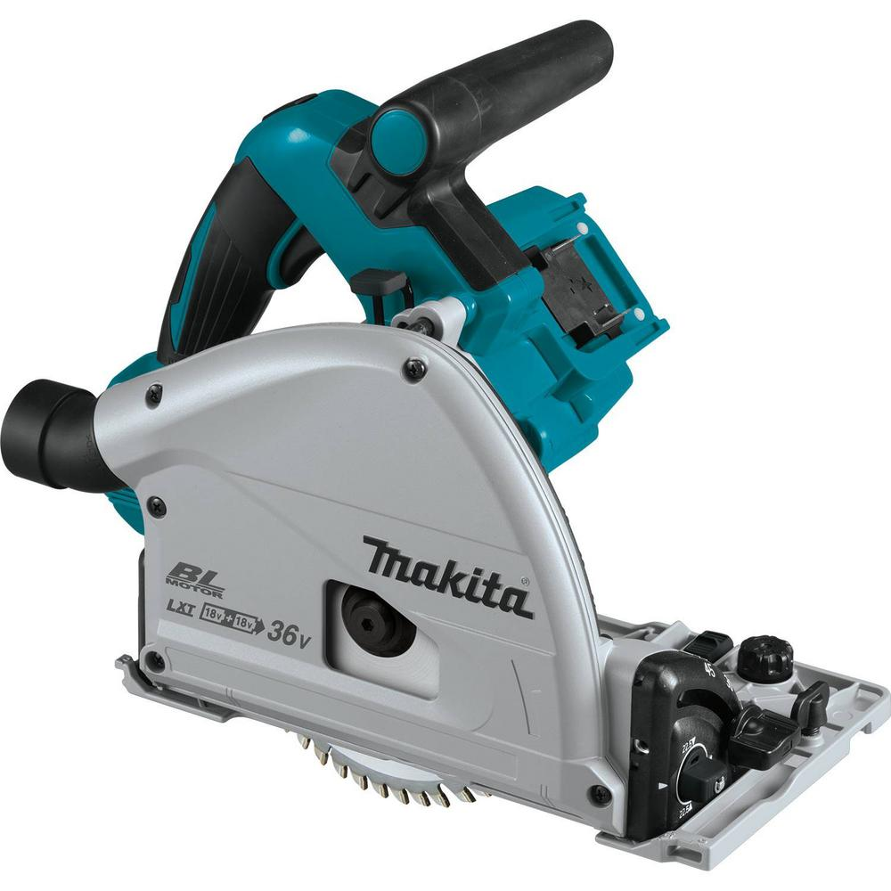 Makita 18 volt x2 lxt lithium ion 36 volt brushless cordless 6 12 makita 18 volt x2 lxt lithium ion 36 volt brushless cordless 6 12 in plunge circular saw tool only with 55t carbide blade xps01z the home depot keyboard keysfo Gallery
