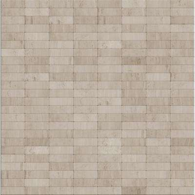 Hare Natural Mixed White/Gray 11.42 in. x 11.57 in. x 5 mm Stone Self Adhesive Wall Mosaic Tile