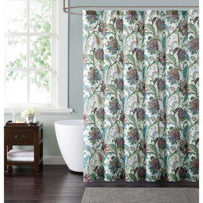 Kass Floral 72 in. Multiple Shower Curtain