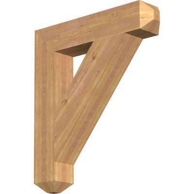 5.5 in. x 34 in. x 30 in. Western Red Cedar Traditional Craftsman Smooth Bracket
