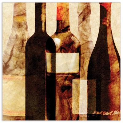 """Smokey Wine 4"" by EAD Art Coop Frameless Free-Floating Tempered Art Glass Wall Art"