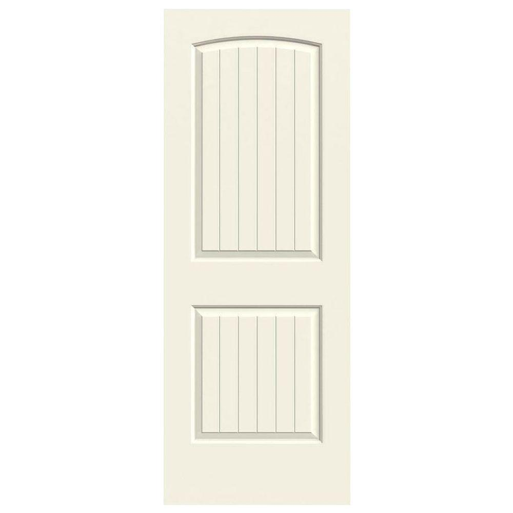 24 in. x 80 in. Santa Fe Vanilla Painted Smooth Molded