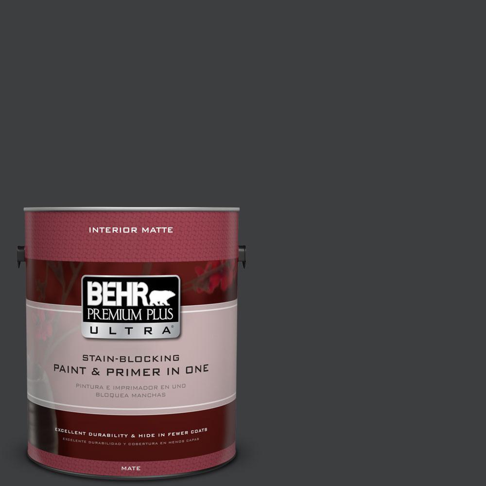 1 gal. #N520-7 Carbon Matte Interior Paint