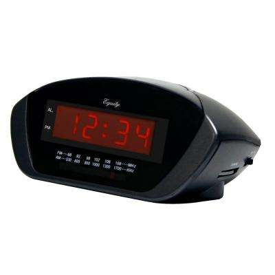 6.5 in. x 4.65 in. Red LED AM/FM Clock Radio